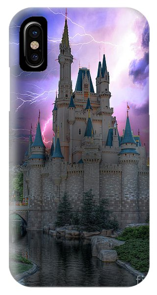 Lighting Over The Castle IPhone Case