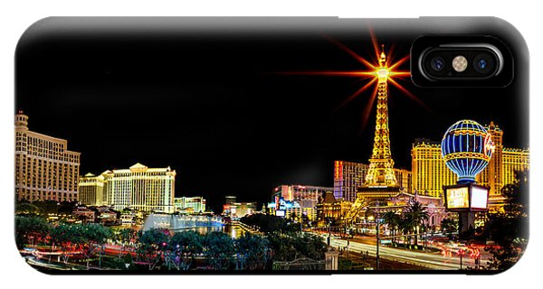 Paris iPhone Case - Lighting Up Vegas by Az Jackson