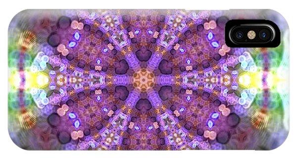 IPhone Case featuring the digital art Lightmandala 6 Star 2 by Robert Thalmeier