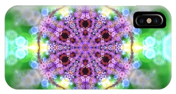 IPhone Case featuring the digital art Lightmandala 6 Star 3 by Robert Thalmeier