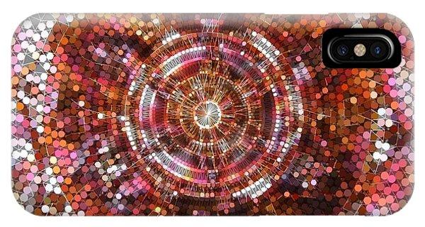 IPhone Case featuring the digital art Lightmandala 6 Star Morp 5 by Robert Thalmeier