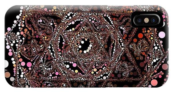 IPhone Case featuring the digital art Lightmandala 6 Star Morph 4 by Robert Thalmeier