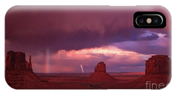 Lightning And Rainbow IPhone Case