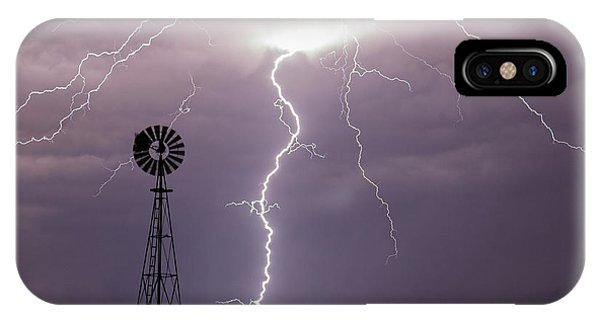 Lightning And Windmill -02 IPhone Case