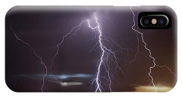 Lightning At Dusk IPhone Case