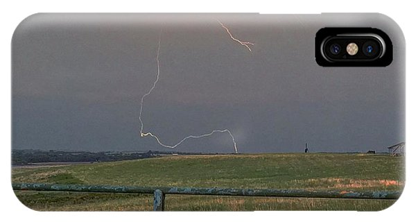 Lightning Bolt On A Scenic Route IPhone Case