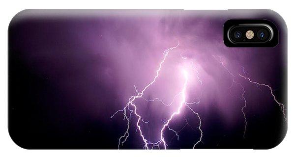Lightning In The Desert IPhone Case