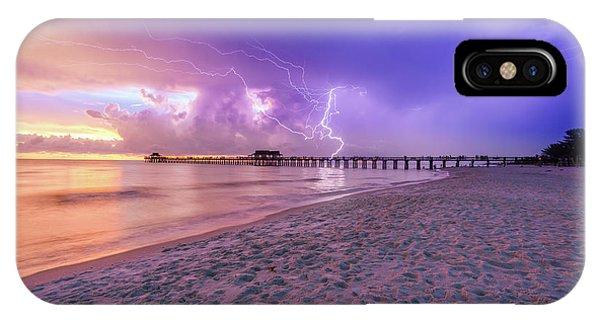 Lightning Naples Pier IPhone Case