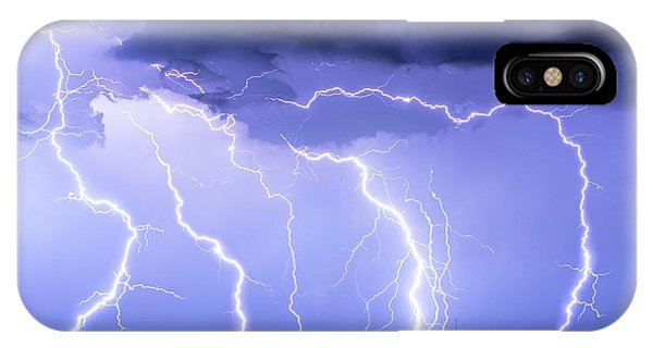 Lightning On The Plains IPhone Case