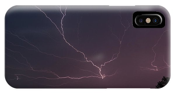 IPhone Case featuring the photograph Lightning Over Lake Lanier by Michael Sussman