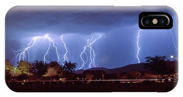 Lightning Over Laveen IPhone Case