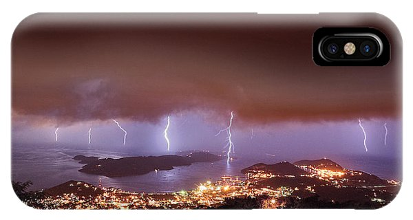 Lightning Over Water Island IPhone Case