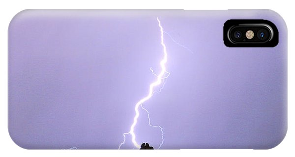Lightning Striking Pinnacle Peak Scottsdale Az IPhone Case