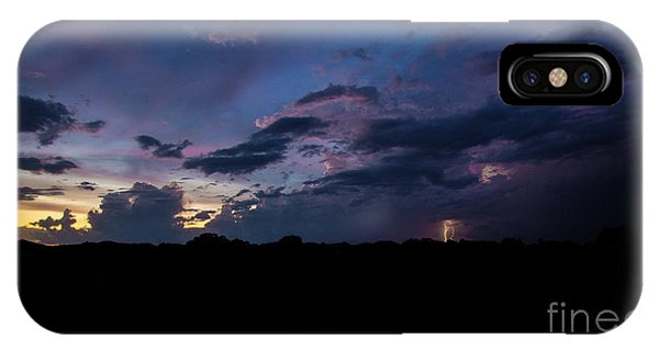 Lightning Sunset IPhone Case