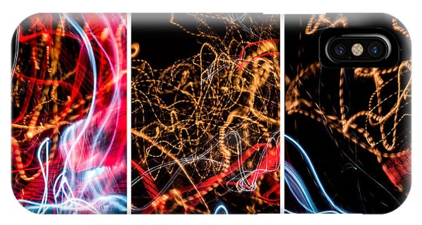Lightpainting Triptych Wall Art Print Photograph 5 IPhone Case