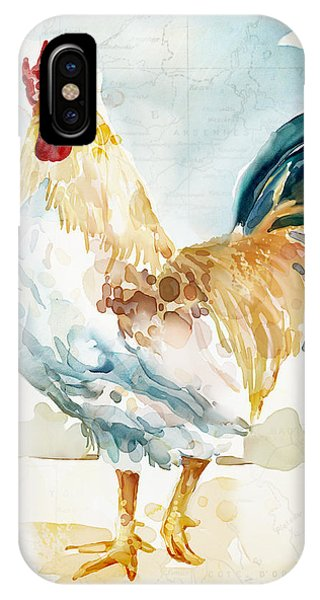 Rooster iPhone Case - Lightrooster by Mauro DeVereaux