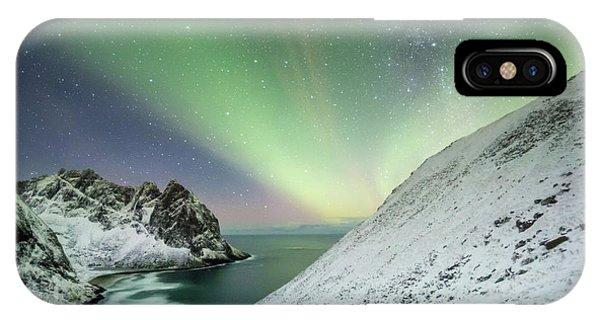 Lights Above Kvalvika IPhone Case