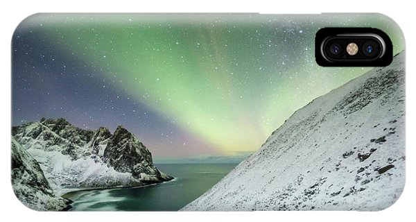 Lights Above Kvalvika IPhone Case