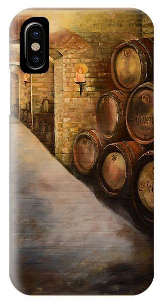Lights In The Wine Cellar - Chateau Meichtry Vineyard IPhone Case
