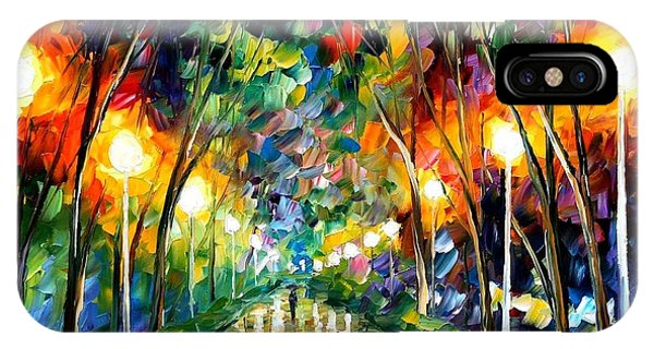 Afremov iPhone X Case - Lights Of Hope by Leonid Afremov
