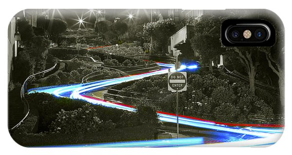 Lights On Lombard Black And White IPhone Case
