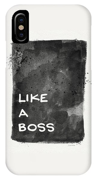 Professional iPhone Case - Like A Boss- Black And White Art By Linda Woods by Linda Woods