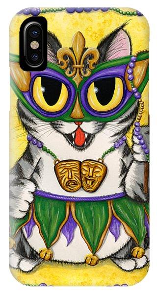 Lil Mardi Gras Cat IPhone Case