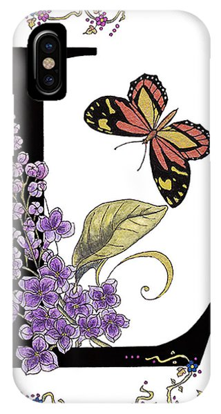 Lilac And Large Tiger Butterfly IPhone Case