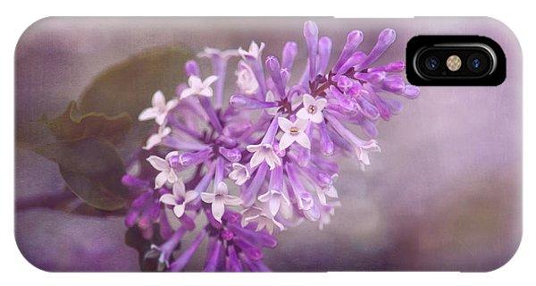 Shrubs iPhone Case - Lilac Blossom by Tom Mc Nemar