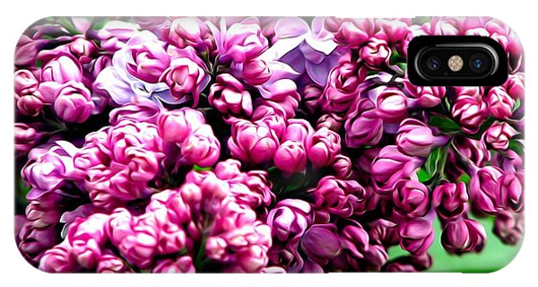 Lilac Blossoms Abstract Soft Effect 1 IPhone Case