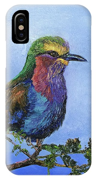 Lilac Breasted Roller IPhone Case