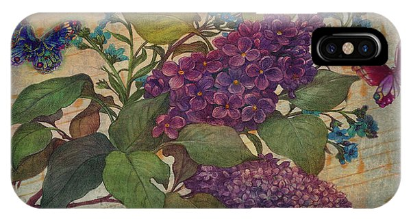 Lilac Dreams Illustrated Butterfly IPhone Case
