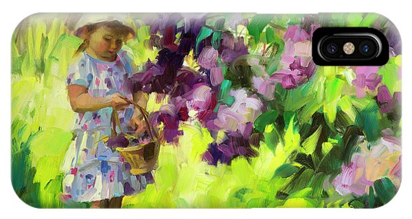 Country Landscape iPhone Case - Lilac Festival by Steve Henderson