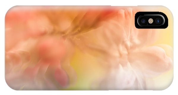 Atomic Tangerine iPhone Case - Lilac Floral Abstract 1. Watercolors Series by Jenny Rainbow