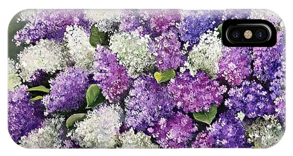 Lilac Glamour IPhone Case