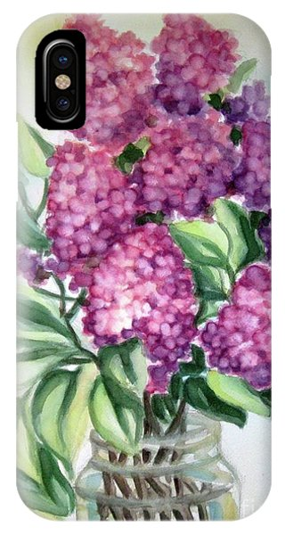 Lilac On The Kitchen Table IPhone Case