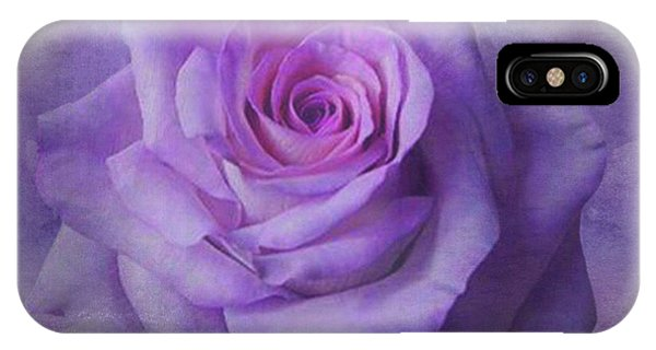 Lilac Purple Rose IPhone Case