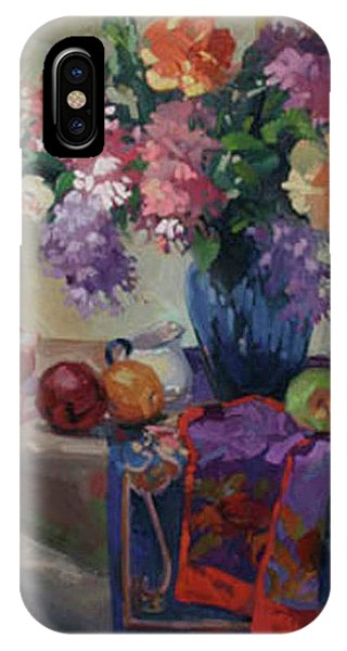 Lilacs And Peonies IPhone Case