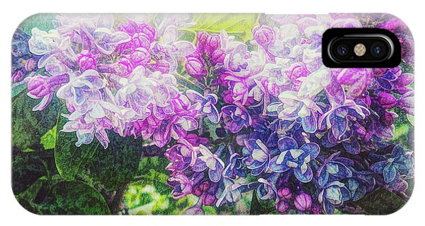 IPhone Case featuring the photograph Lilacs Expression by Anna Louise
