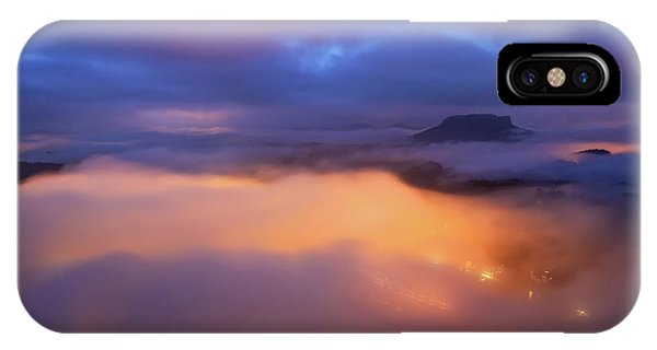Lilienstein Night View, Saxon Switzerland, Germany IPhone Case