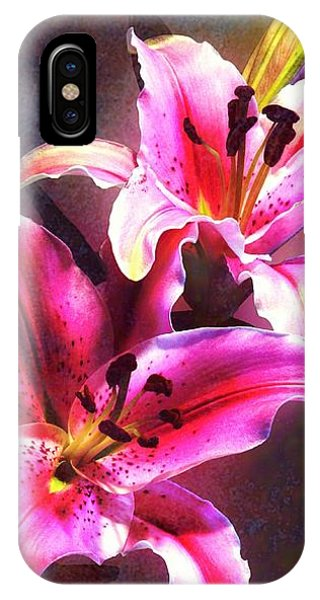 Lilies At Night IPhone Case