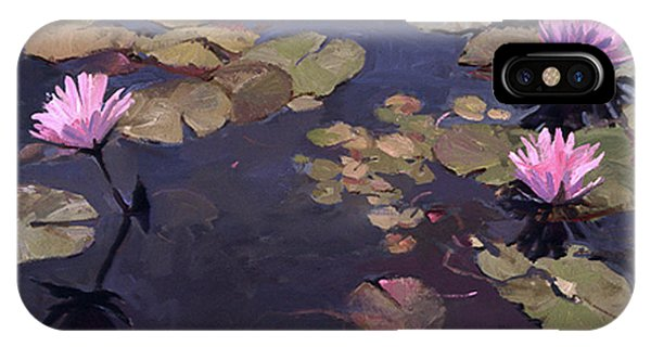 Lilies II - Water Lilies IPhone Case