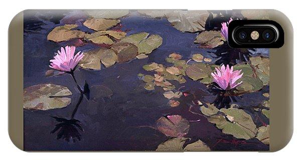 Betty Billups iPhone Case - Lilies II - Water Lilies by Betty Jean Billups