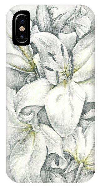 Lilies Pencil IPhone Case