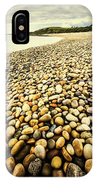 Stone Wall iPhone Case - Lillico Beach Tasmania by Jorgo Photography - Wall Art Gallery