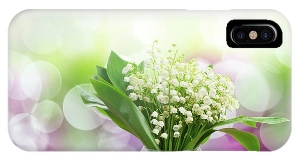 Lilly Of Valley Posy In Glass IPhone Case