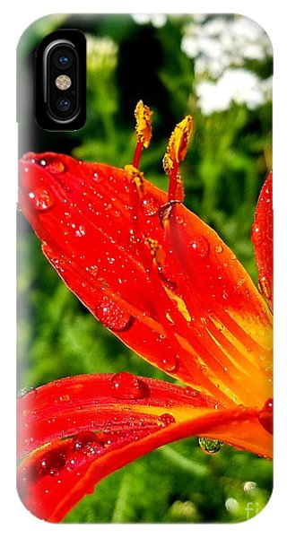 Lily And Raindrops IPhone Case