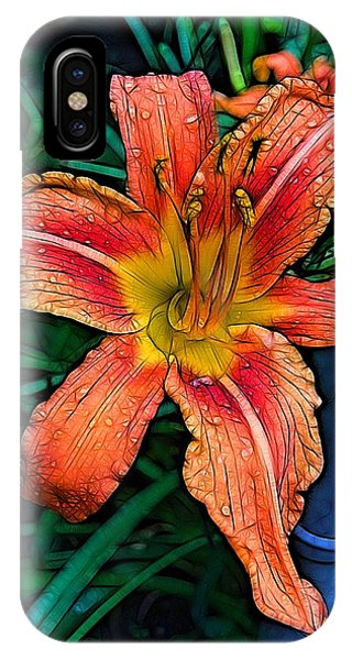 Blossom iPhone Case - Lily Bold by Nick Heap
