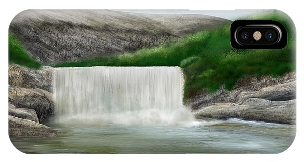 IPhone Case featuring the digital art Lily Creek by Mark Taylor