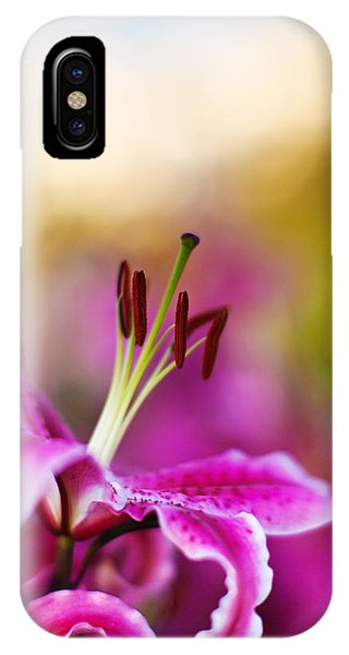 Lilly iPhone Case - Lily Impression by Mike Reid